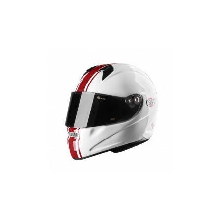 casque MC5 race  fibre red/withe